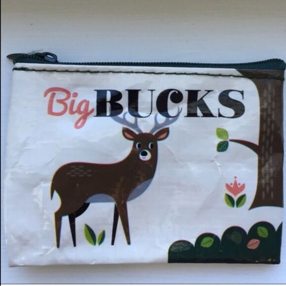 """""""Big Bucks"""" Coin Purse~NWOT~Firm unless Bundled """"You're Beautiful, Don't Change."""" Coin Purse~NWOT~Great to give gift cards in~3"""" X 4""""~Firm unless Bundled Accessories Key & Card Holders"""