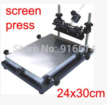 Free shipping Single color manual flat screen printing ...