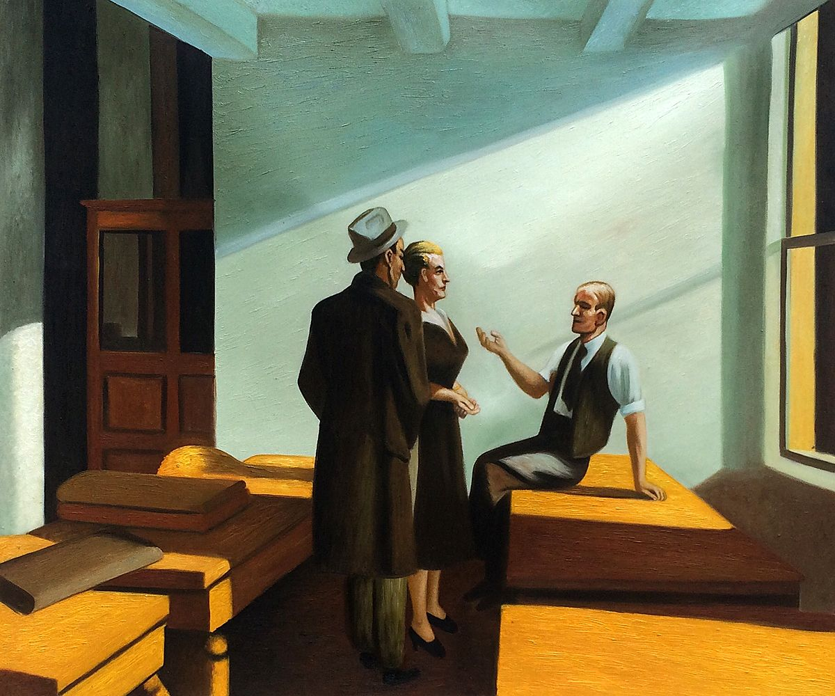 Hopper - Conference at Night, 1949