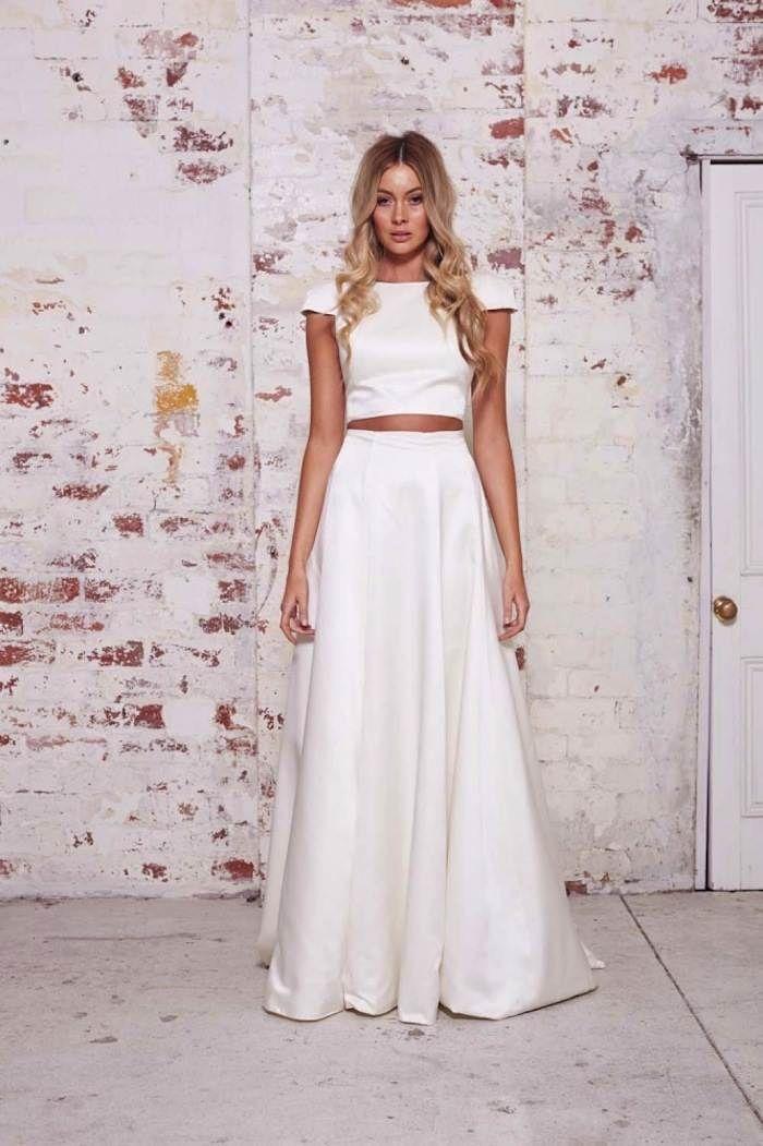 Karen Willis Holmes Wedding Dresses Modwedding Casual Wedding Dress Two Piece Wedding Dress 2 Piece Wedding Dress