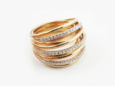 Gold & #Diamonds band #ring| #Larimonta