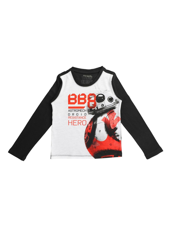 1865bf32 Buy STAR WARS Boys White Printed Round Neck T Shirt - Tshirts for Boys  7416690 | Myntra