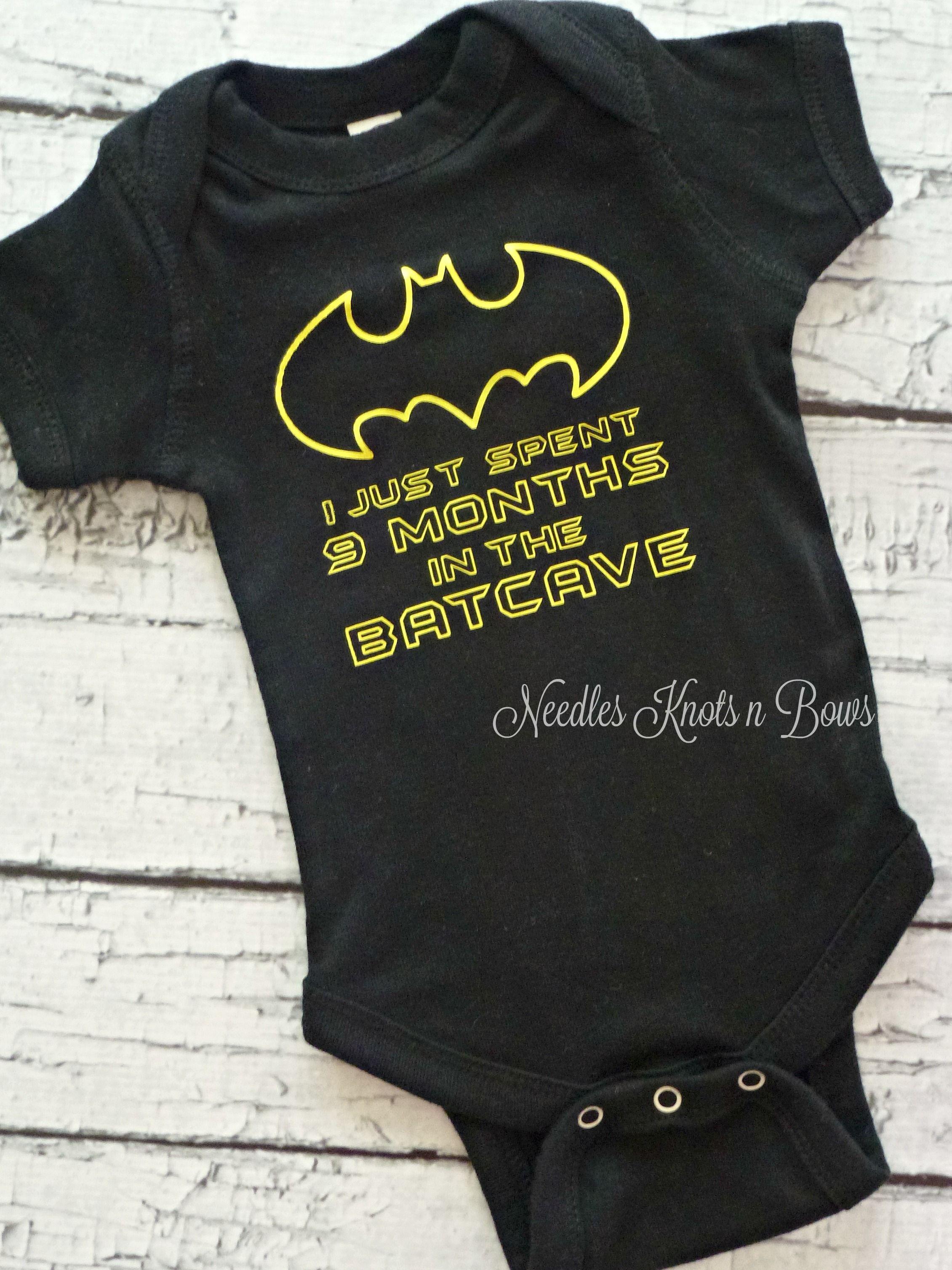Batman Bat Baby Bodysuit Vest Maternity Boys Girls Gift Funny Superhero