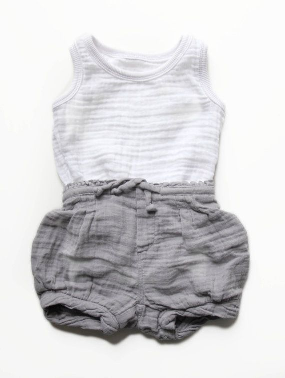 de5a523d29b7 Baby grey shorts and white muscle shirt
