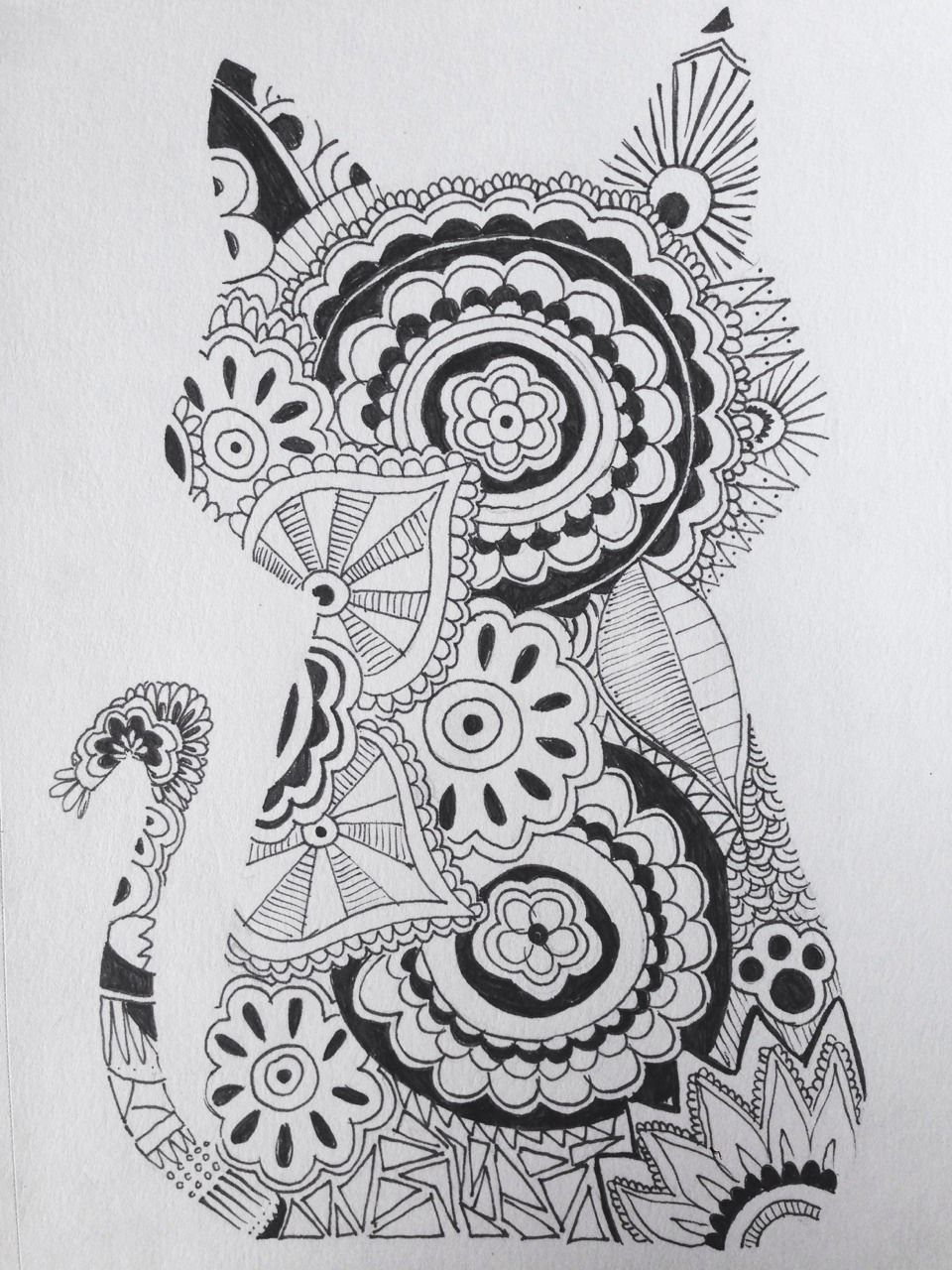 Love This Cat Zentangle Tumblr Cat Coloring Page Animal Coloring Pages Zentangle Art [ 1280 x 960 Pixel ]