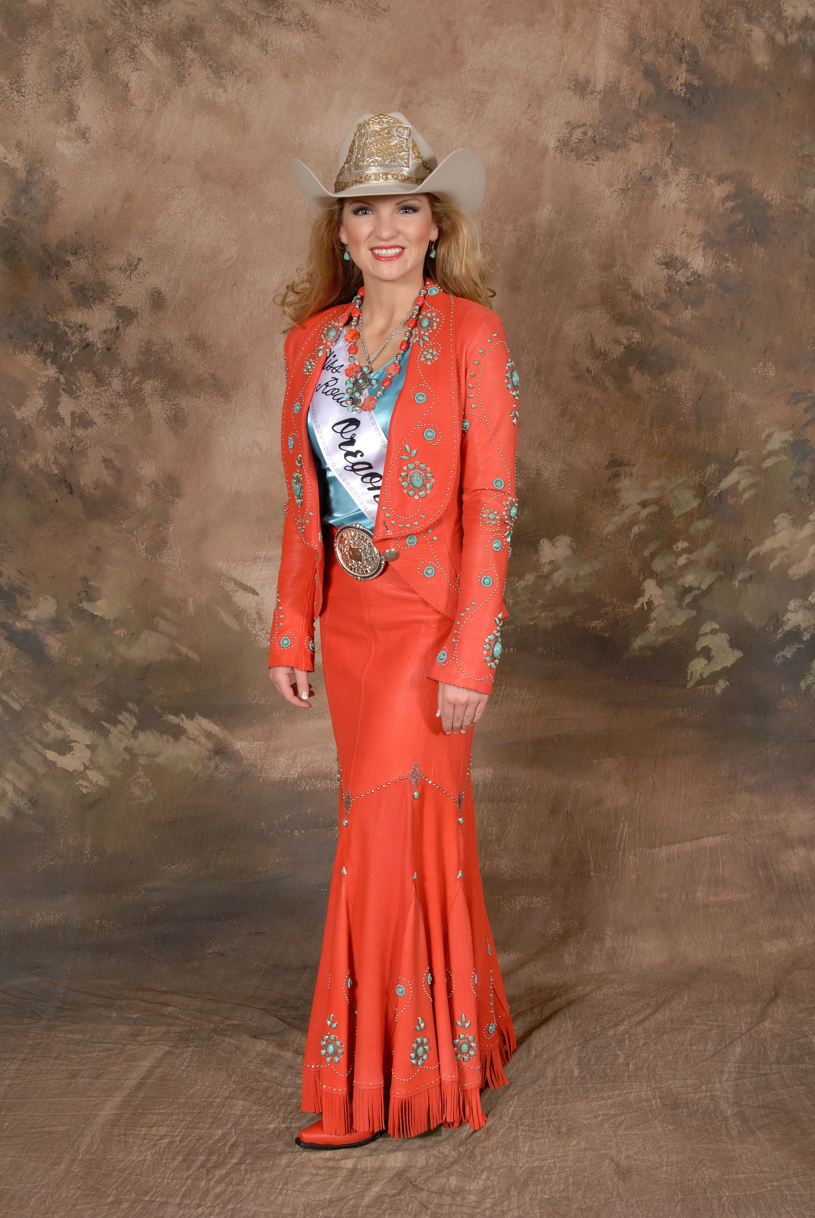 Miss Rodeo Oregon Wearing Jan Faulkner Leather Design My
