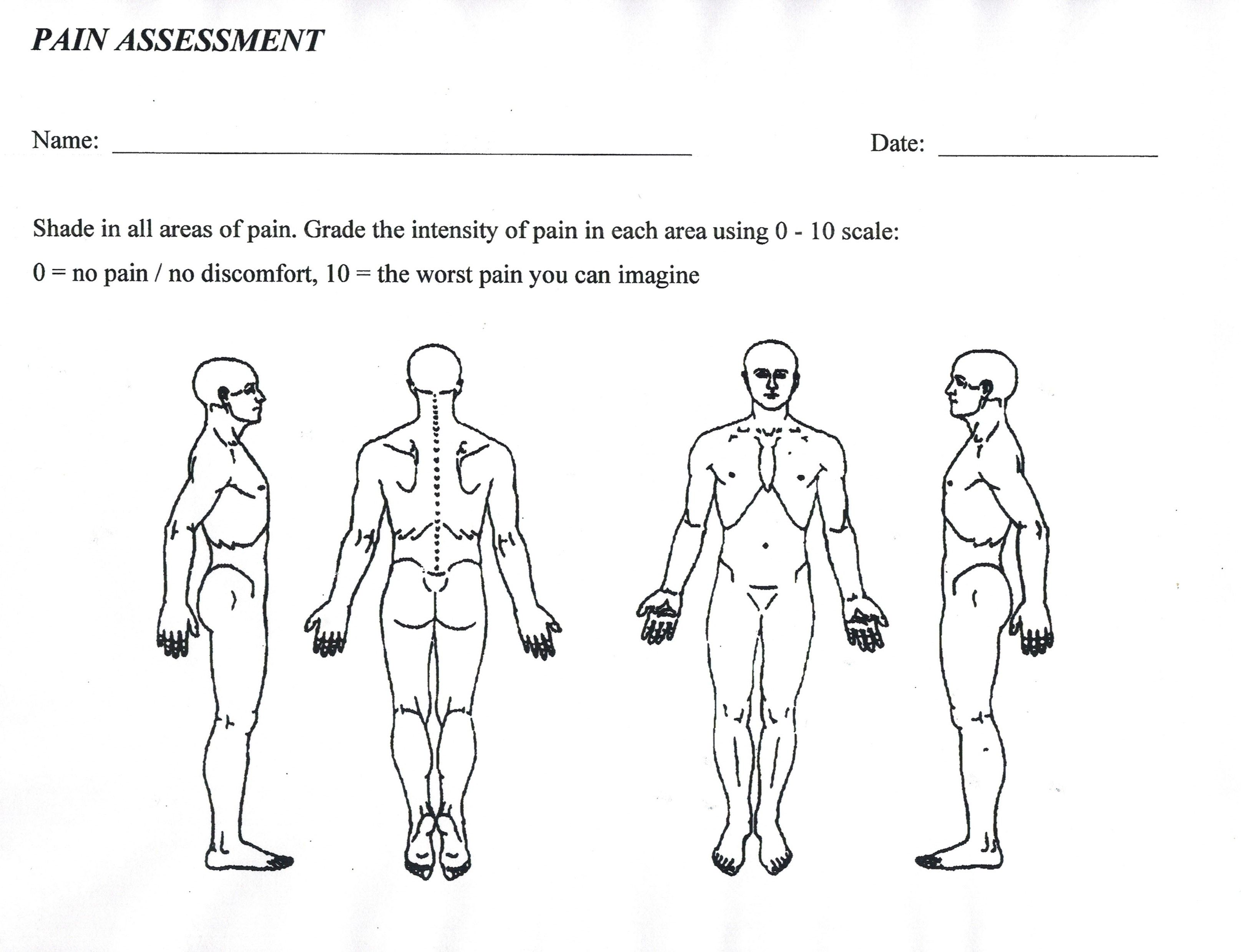 Image Result For Body Assessment Forms
