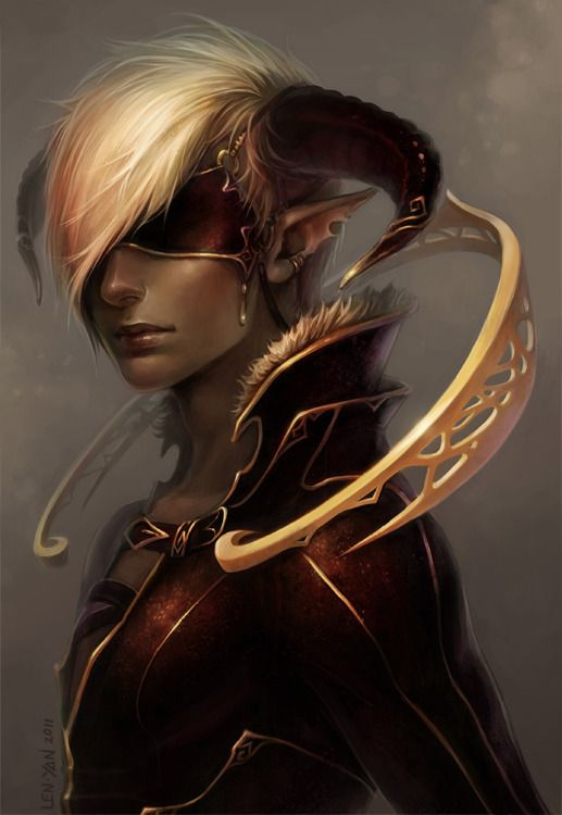 male elf fantasy art | Gold trimmed Picture (2d, fantasy, character, male, elf, portrait)