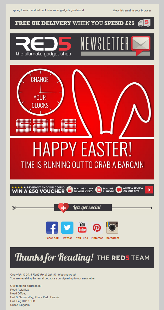 Red5 easter sale email emailmarketing email marketing gifts red5 easter sale email emailmarketing email marketing gifts easter sale negle Image collections