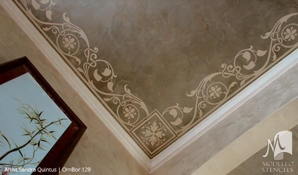Image result for painted ceiling border | Stencil painting ...