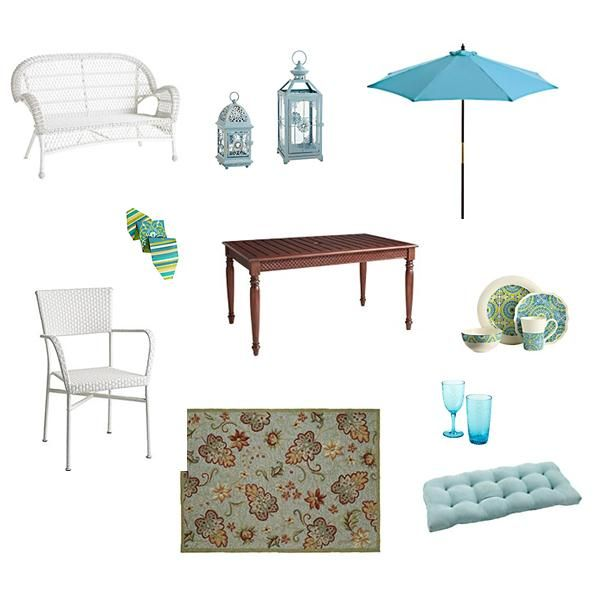 Blue and White Theme with Pier 1 Outdoor Furniture | Home Decor ...