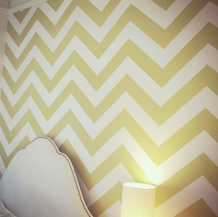 Chevron pattern wall decal rental room ideas pinterest for Chevron template for walls