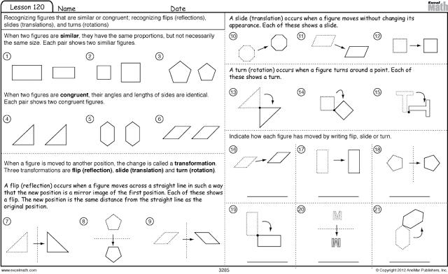 Congruent And Similar Shapes Worksheets Mental Maths Worksheets Math Worksheets Translations Math