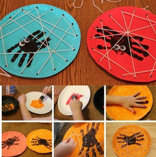 Manualidades Para Halloween Con Pintura De Dedos Plastica - Cosas-para-halloween-manuales