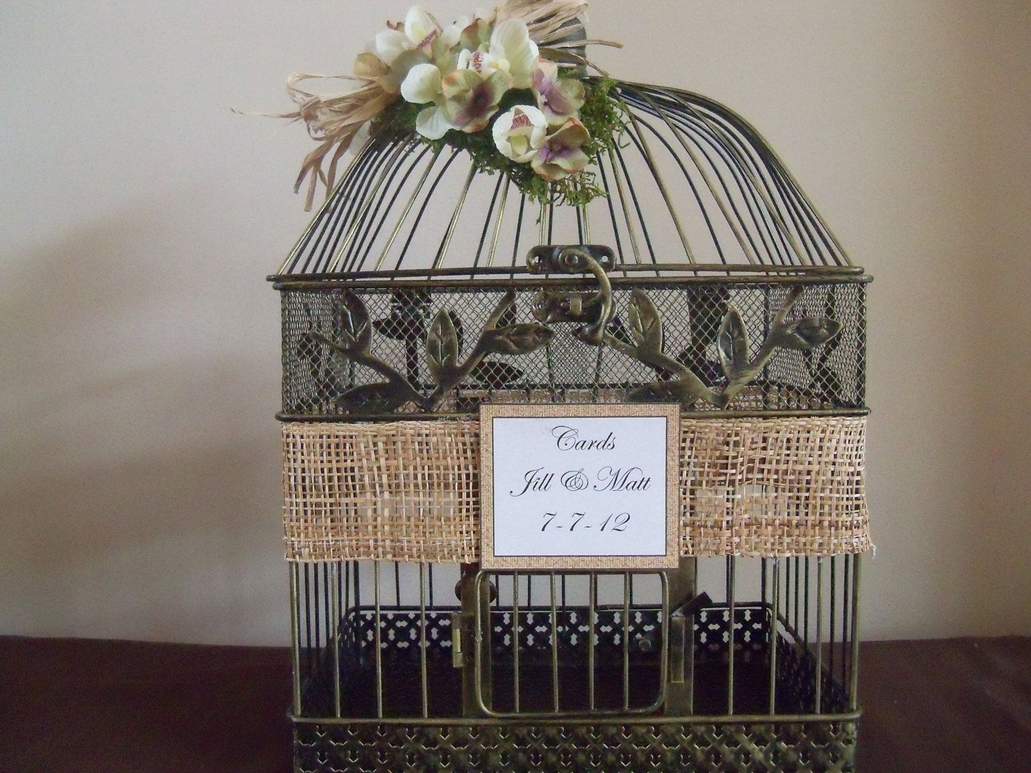 Wedding Card Box Birdcage Holder Rustic Decor Envelope 58 00 Via Etsy