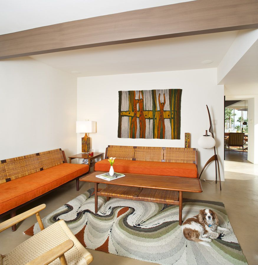 The 1959 Siva House by architect Hugh Captur/Russell house. Living ...