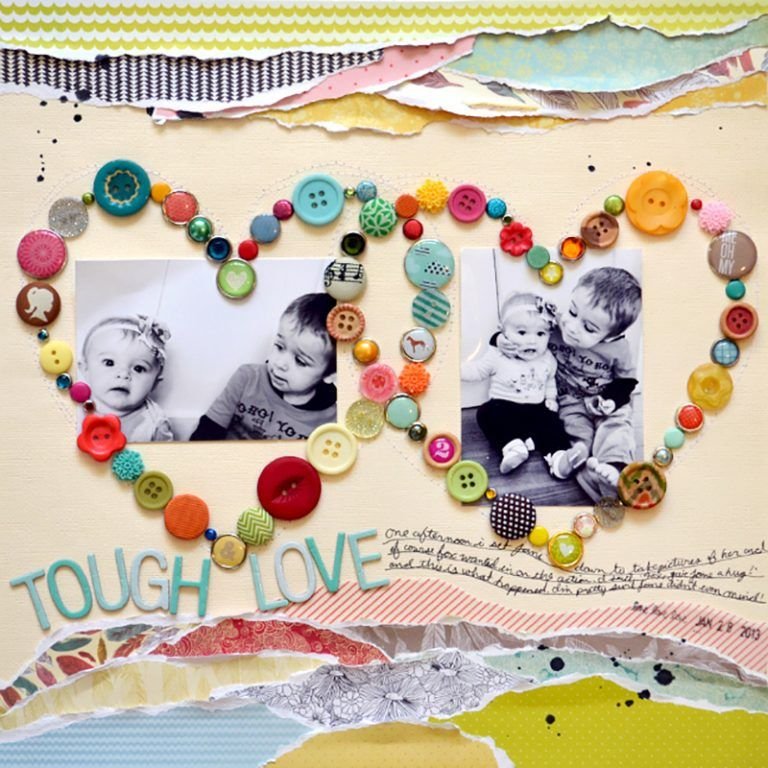 Technique Spotlight with Paige Evans: Buttons and Brads - Stamp & Scrapbook EXPO