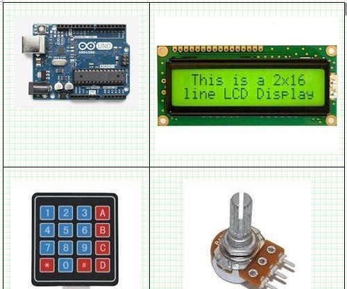 Arduino 16x2 LCD Display and 4x4 Matrix Keypad | Arduino It