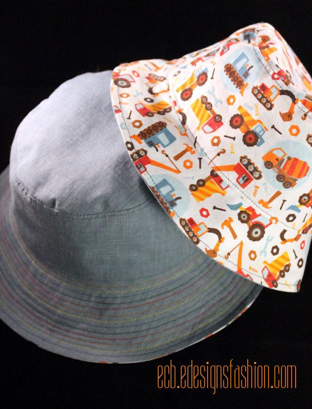 Toddler and Baby Reversible Bucket Hats (Link to Free Pattern ... 51ad345a06c