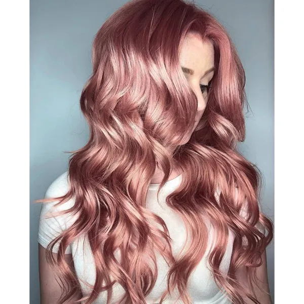 Metallic Dusty Rose Hair Color Rose Gold Hair Color Pastel Hair Styles