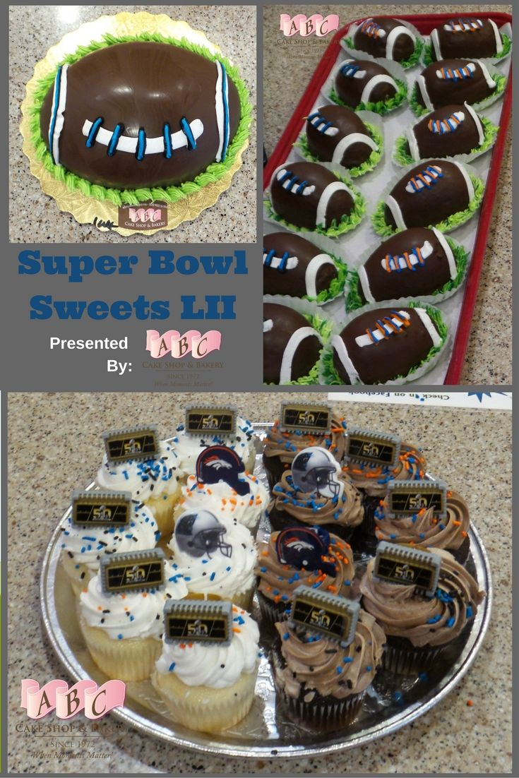 We have all your #SuperBowl sweets available for pre order ...