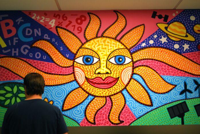 Myveronanj dan fenelon laning campus art pinterest for Elementary school mural ideas