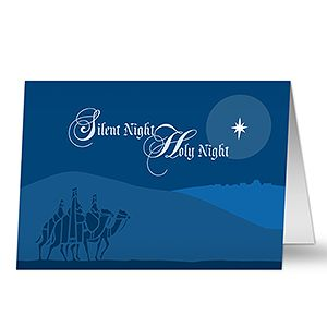 silent night personalized christian christmas cards christmas