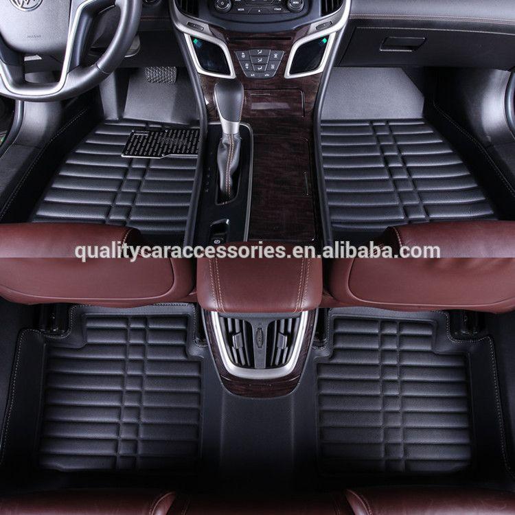 Black Leather Car Mats, Car Carpet, Car Mats Leather Material, Five Seat