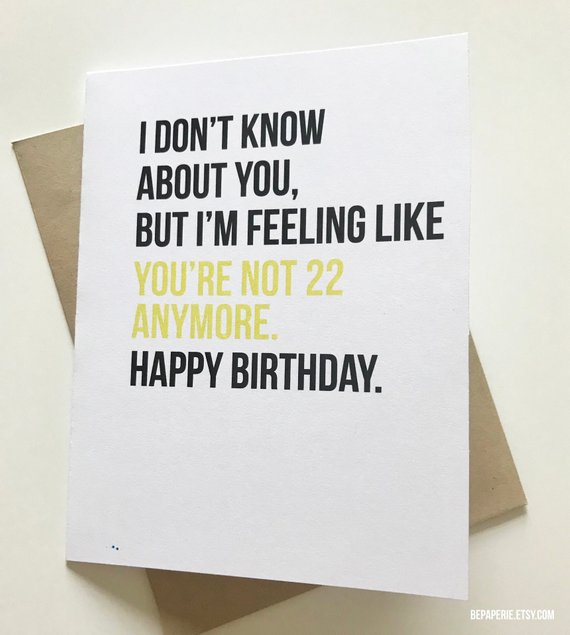 Funny Birthday Card Old Birthday Card 30th Birthday 40th Etsy Birthday Card Sayings Old Birthday Cards Funny Birthday Cards