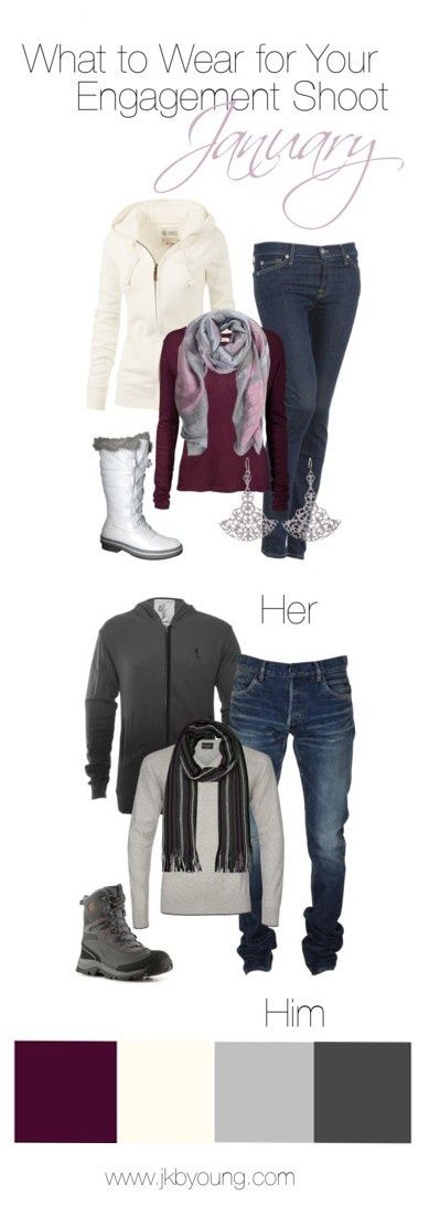 what to wear for engagement photos in january