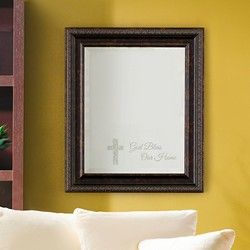 GOD BLESS OUR HOME MIRROR From Celebrating Home Designer Elise Sosa (made  In U.S.A)