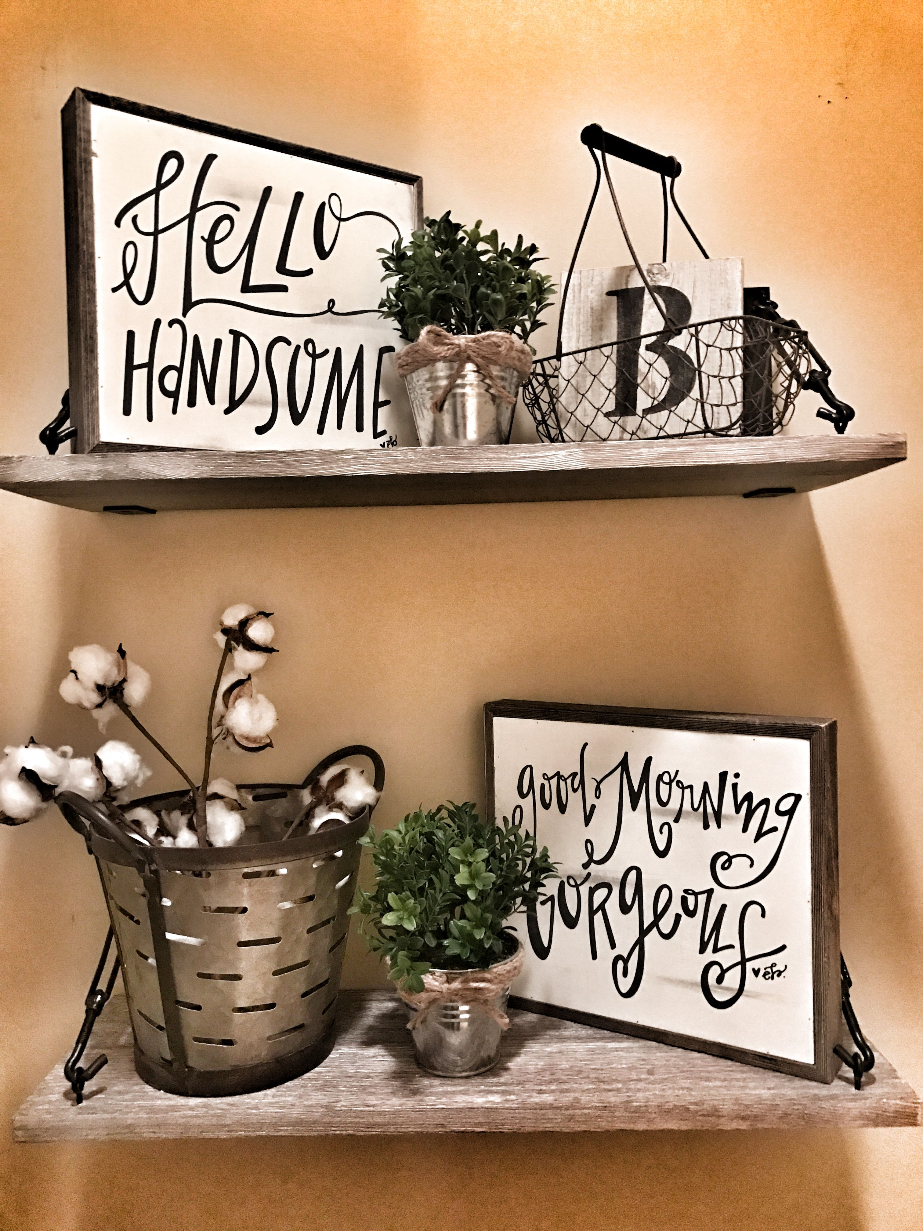 Farmhouse Rustic Bathroom Shelves Decor Master Bathroom Decor Bathroom Shelf Decor Rustic Bathroom Shelves