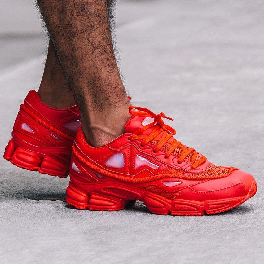 new style 3da74 97f8f Raf Simons x adidas Ozweego 2 Red
