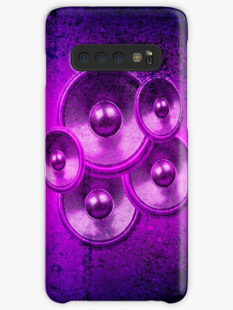 Audio Speakers On A Purple And Black Concrete Wall Background Millions Of Unique Designs By Independent Artists Find You Concrete Wall Music Speakers Wall S
