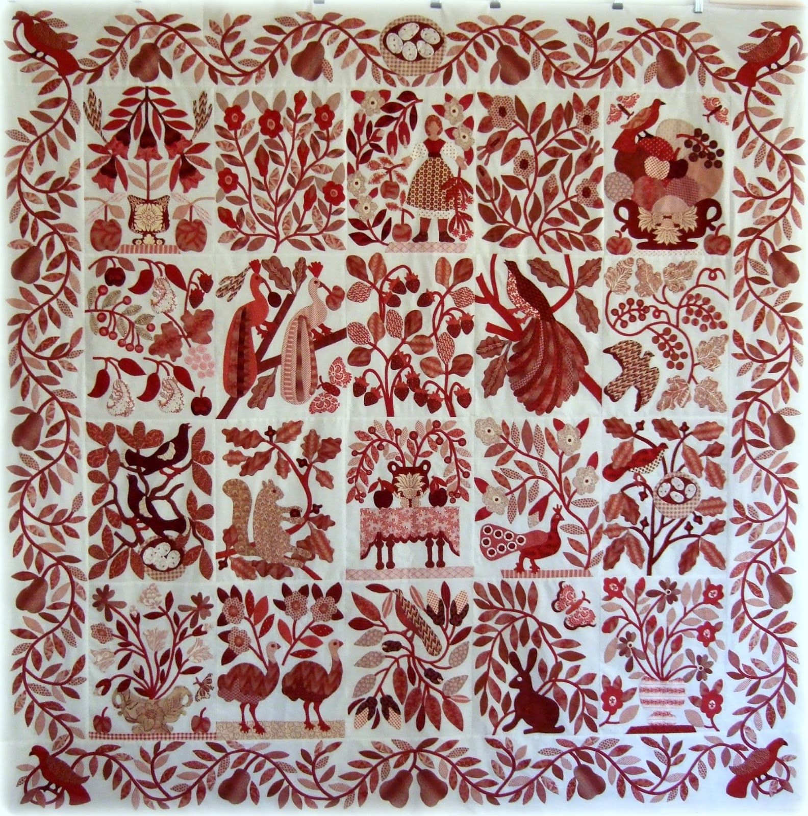 Red Quot Civil War Bride Quot Quilt Top Every Stitch