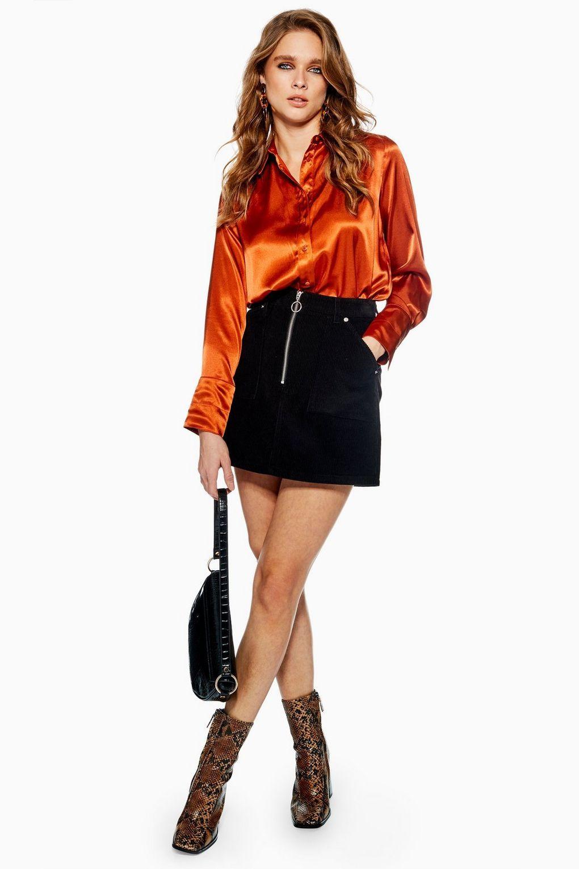 339c896357 Corduroy Zip Skirt - Skirts - Clothing - Topshop