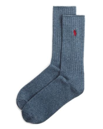 bee8d573 Polo Ralph Lauren Ribbed Crew Socks - Taupe Heather in 2019 ...
