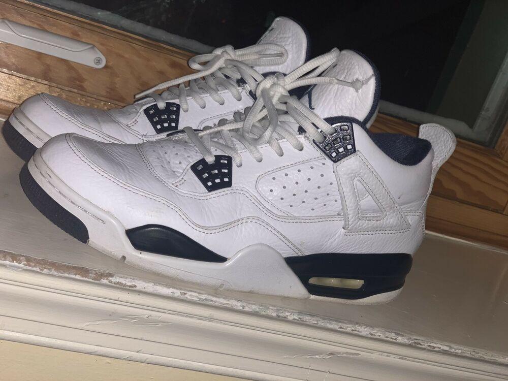 ae3e3013fdd Air Jordan Retro 4 Columbia LS Sz 10 White/Legend Blue IV 314254 107  #fashion #clothing #shoes #accessories #mensshoes #athleticshoes (ebay link)