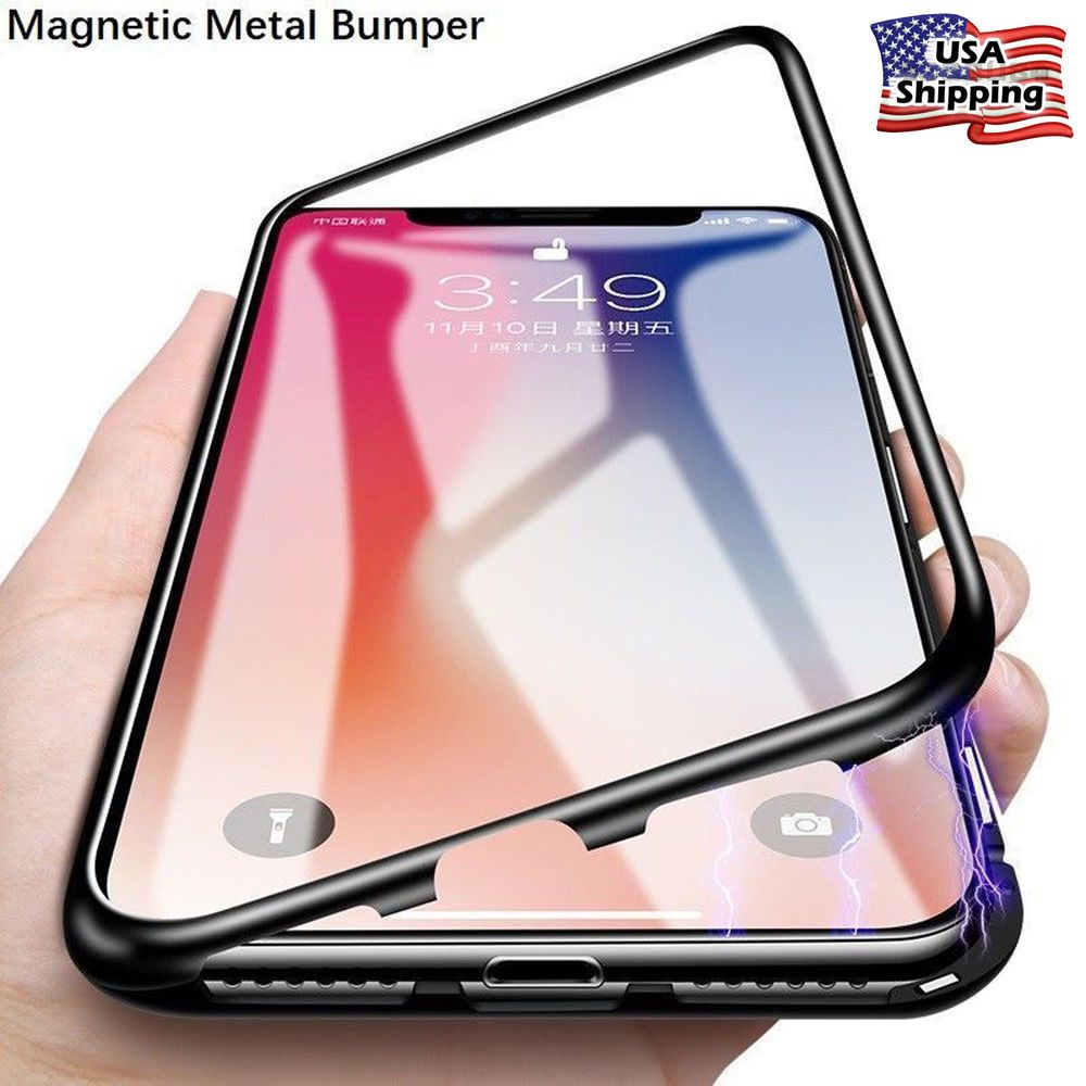 Adsorption metal case for iphone 11 pro xs max xr
