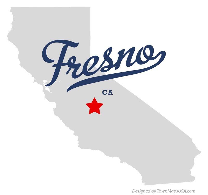 Map Of California Fresno.Map Of Fresno California Ca Maps In 2019 Fresno California