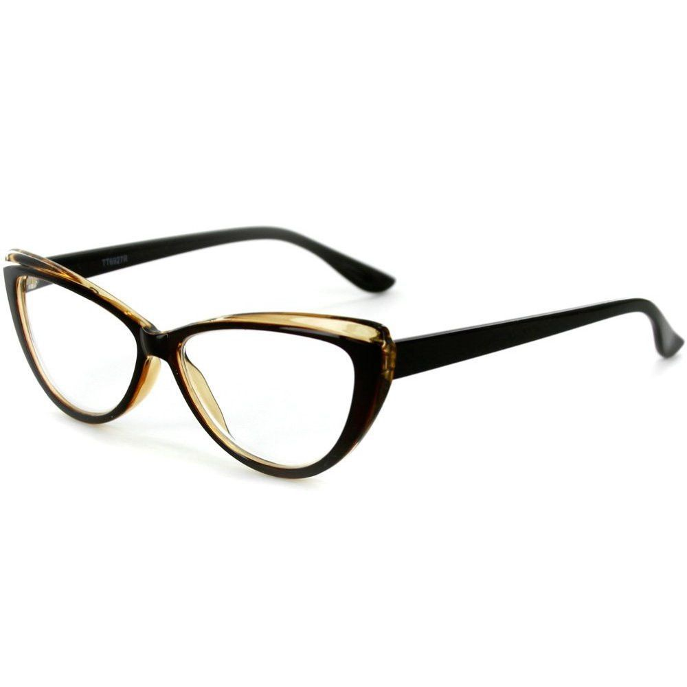 Just frames for glasses -  Caribe Reading Glasses With Colorful Two Tone Cateye Frames For Women