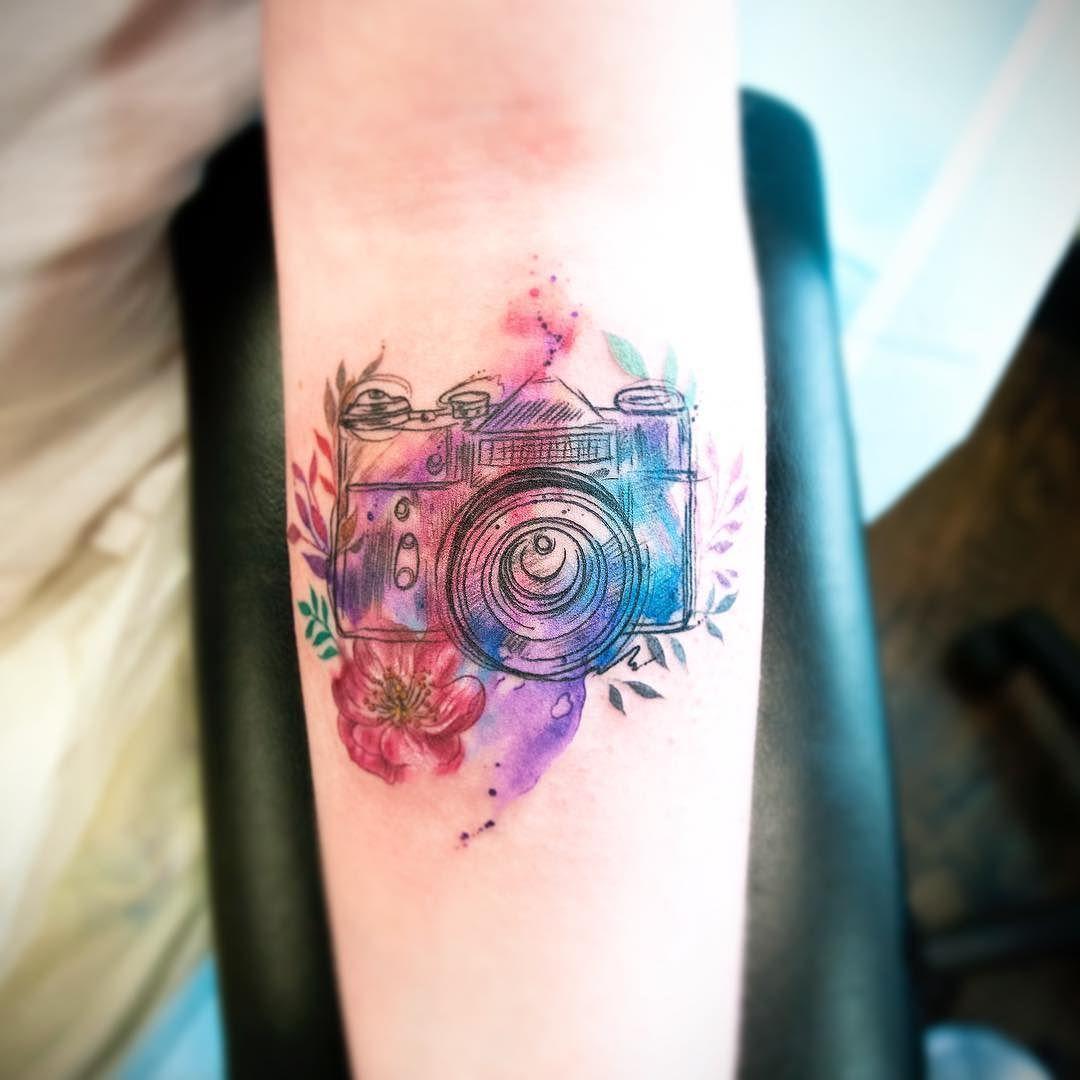 Fun Little Watercolour Camera Today Wikipediainventorofthewatercolour Camera Tattoos Ink Tattoo Tattoos