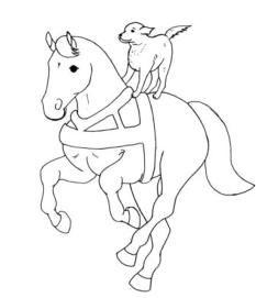 Aumalbild Pferd & Hund Malvorlage | HORSE CRAFTS | Pinterest