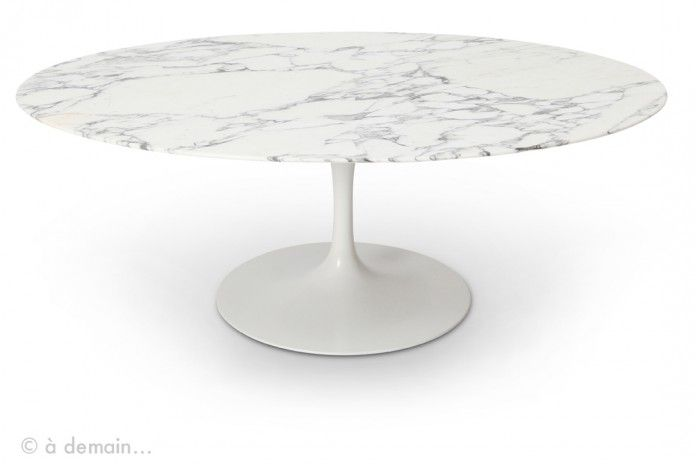 table basse ovale en marbre par saarinen pour knoll 1950s available on. Black Bedroom Furniture Sets. Home Design Ideas
