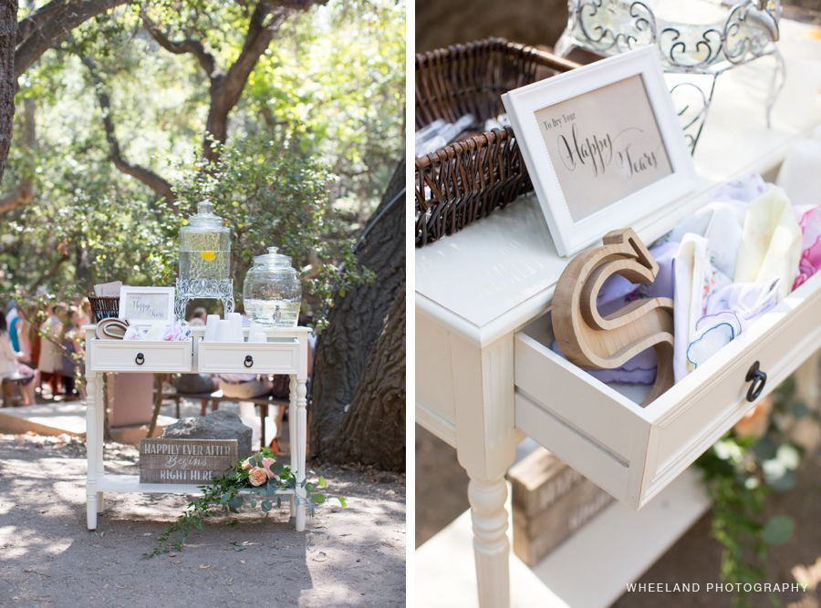 backyard wedding venues in orange county ca%0A Welcome table  happy tears  water station  programs  SoCal Wedding  Orange  County