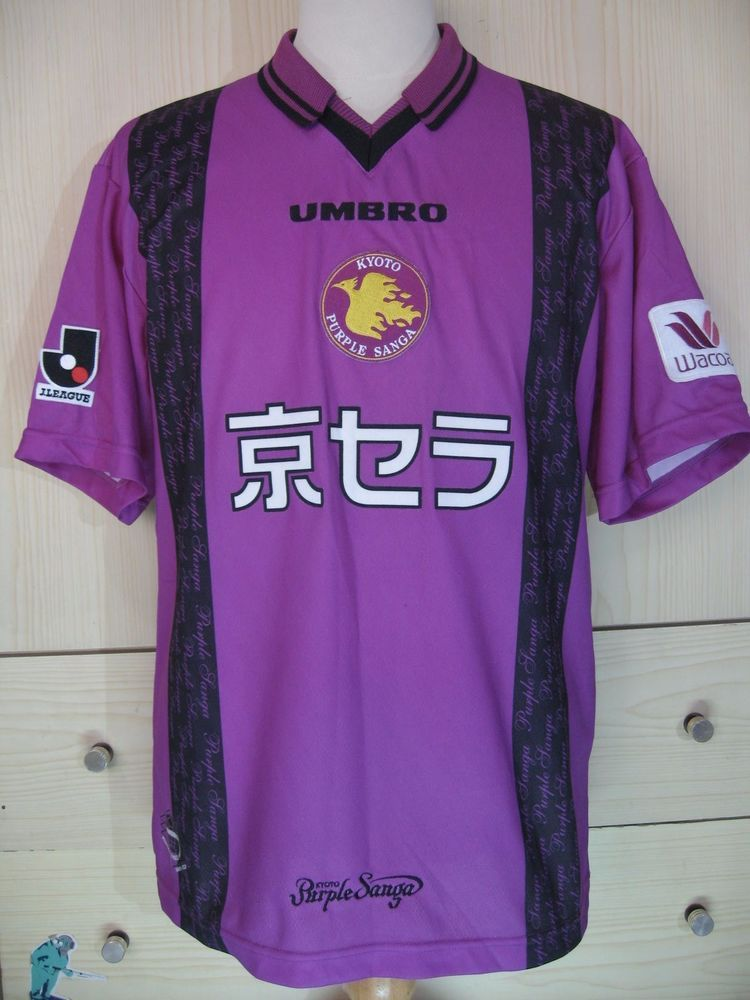 39bc43ed9 KYOTO SANGA FC UMBRO 1998 VINTAGE JAPAN J LEAGUE FOOTBALL JERSEY SOCCER  SHIRT M | eBay