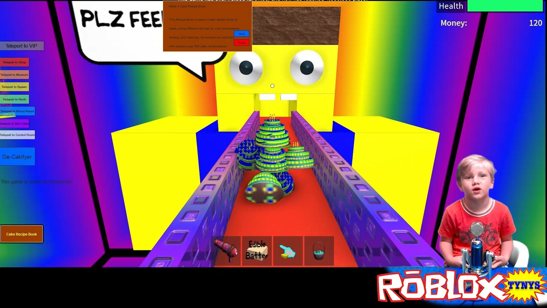 Make A Cake And Feed The Giant Noob Roblox Youtube - Tynys Bake A Cake Roblox Feed The Giant Noob Roblox