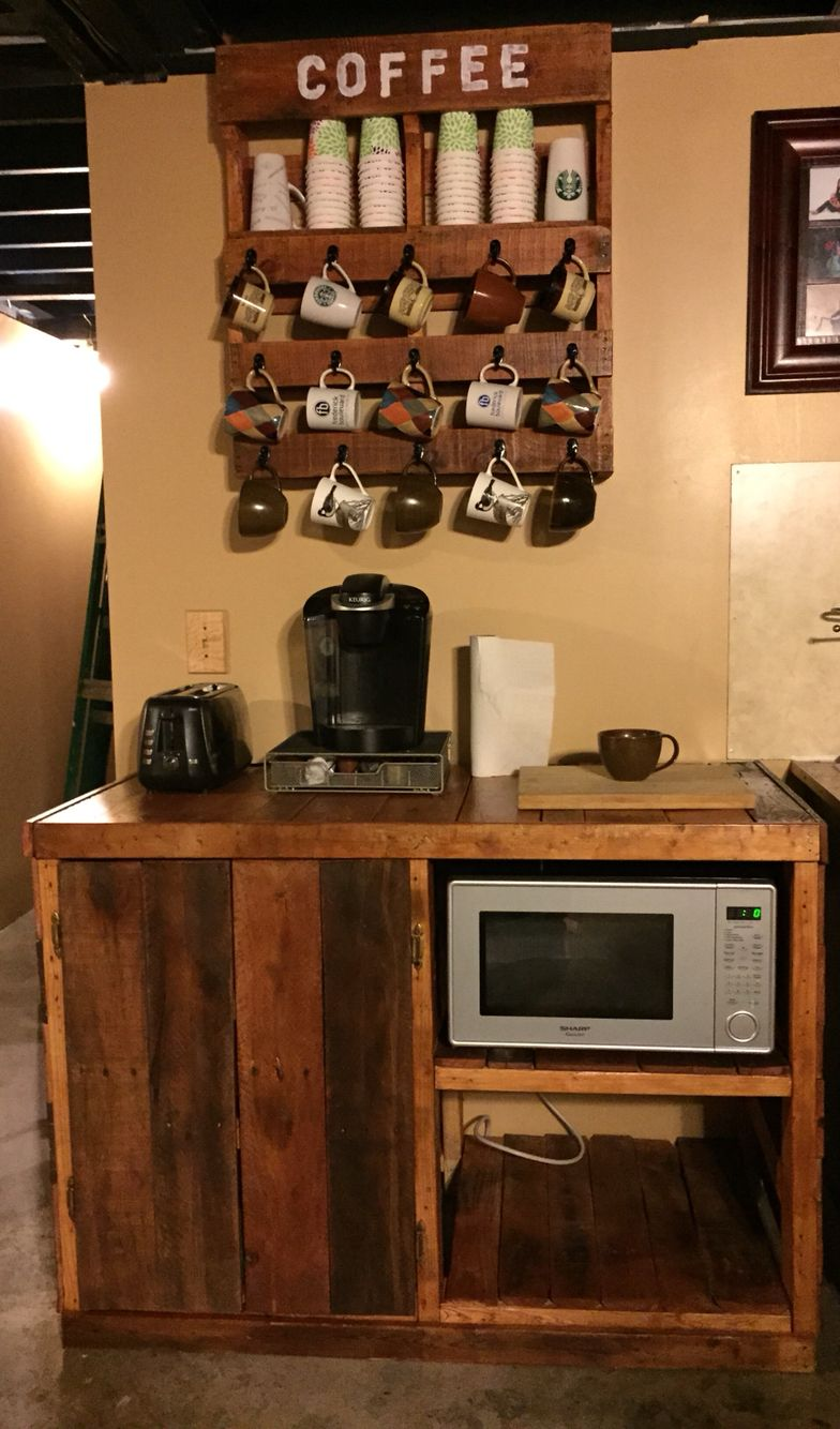 Pallet Coffee Microwave Cart Project Exactly What I Want To Make