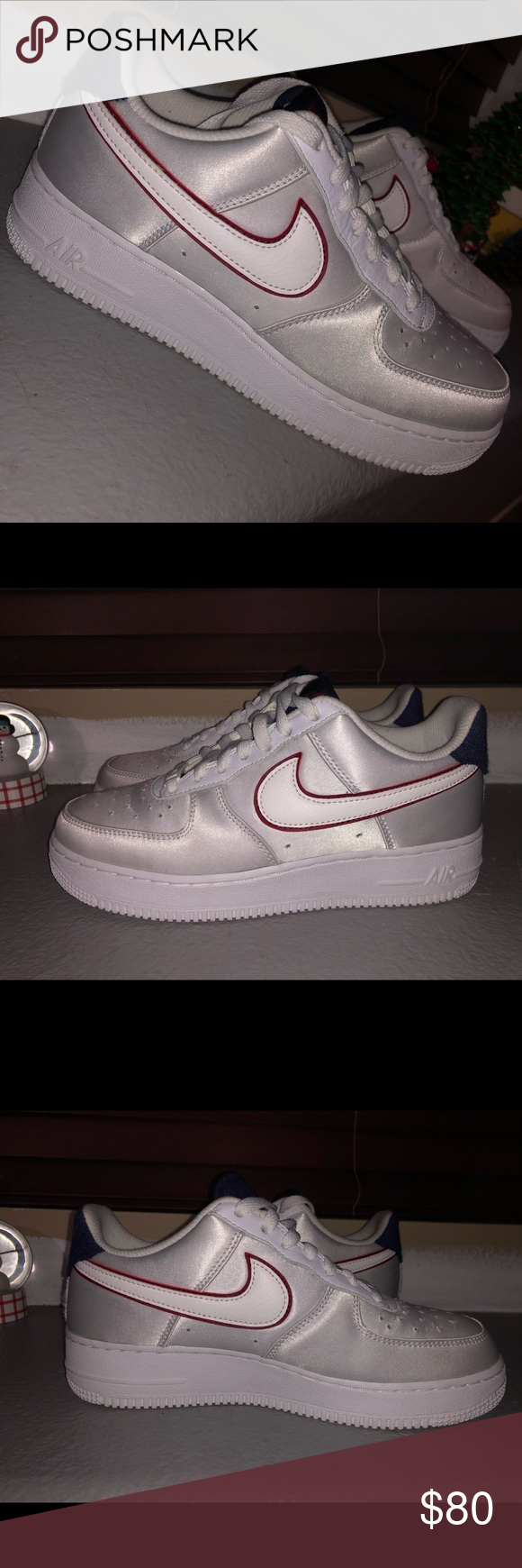 2dc454e9c4d40 Nike Air Force 1 Satin Blackened Blue Smooth satin outside with comfy soft  inside worn once Nike Shoes Sneakers