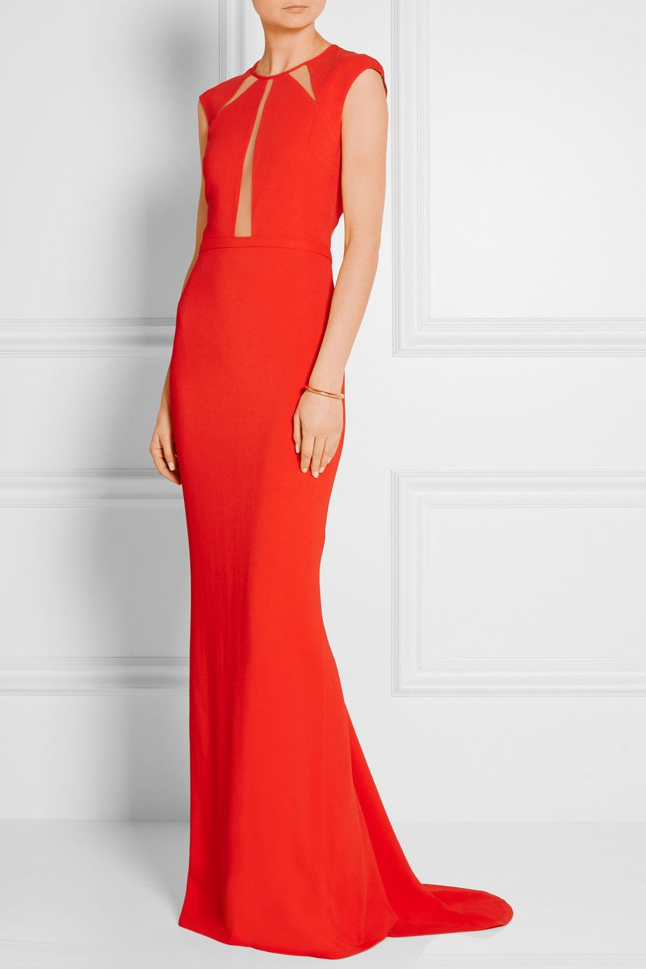 Michael Kors Collection   Tulle-paneled crepe gown   NET-A-PORTER ...